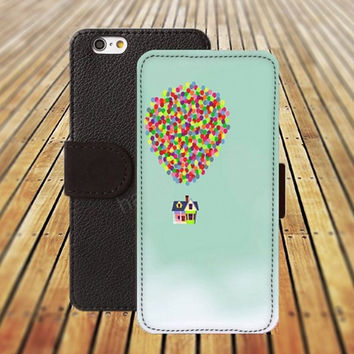 UP cartoon iphone 5/ 5s iphone 4/ 4s iPhone 6 6 Plus iphone 5C Wallet Case , iPhone 5 Case, Cover, Cases colorful pattern L019
