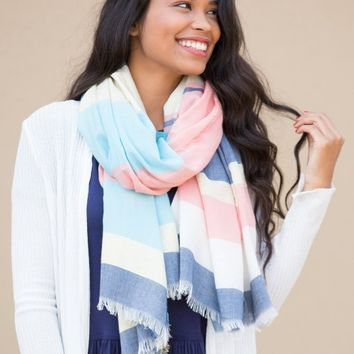 Sea Breeze Scarf in Blue | Monday Dress Boutique