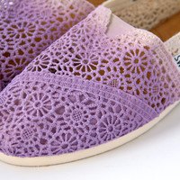 Custom Crochet Pastel Ombre TOMS Shoes