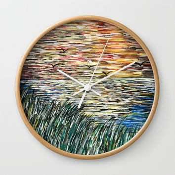 Horizon Wall Clock by Artist CL