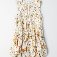 AEO Button-Front Boho Tank, Multi