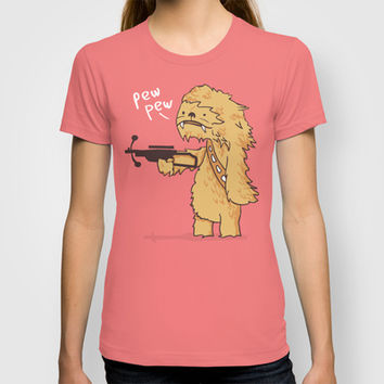 Chewy - pew pew you're dead T-shirt by Budi Satria Kwan