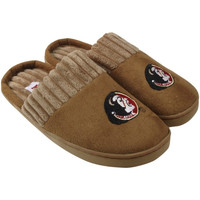 Florida State Seminoles :FSU: Ladies Chestnut Scuff Slippers - Khaki