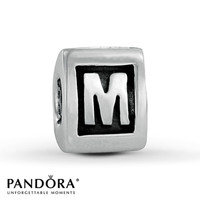 Pandora Letter M Charm Sterling Silver