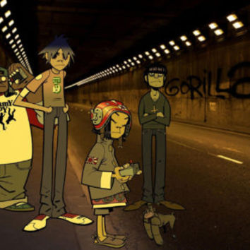 Gorillaz Team Characters ART 24in x 36in HD Poster Art Photo