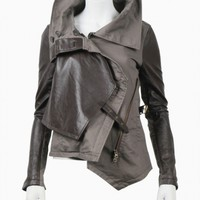WOMEN :: OUTERWEAR :: HUNGER GAMES NOVA JACKET MINK - NICHOLAS K