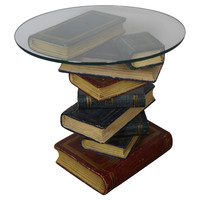 One Kings Lane - The Well-Appointed Library - Glass-Top Side Table