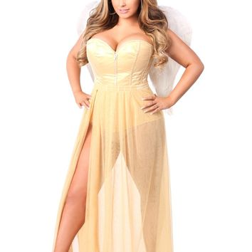 Lavish Premium Golden Angel Corset Costume