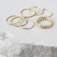 Mix and Match Gold Ring Set