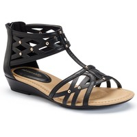 sole (sense)ability Women's Comfort Wedge Gladiator Sandals