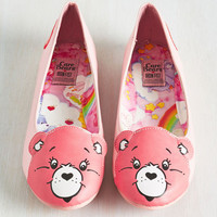 Face Your Cheers Flat in Pink | Mod Retro Vintage Flats | ModCloth.com