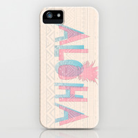 Vintage Aloha  iPhone & iPod Case by Sunkissed Laughter