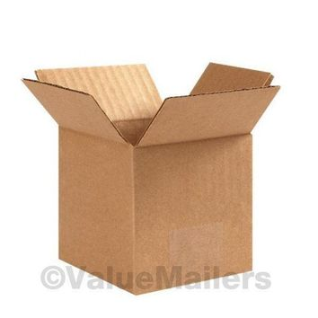150 4x4x4 Packing Shipping Cartons Corrugated Boxes 100 % Corrugated Box
