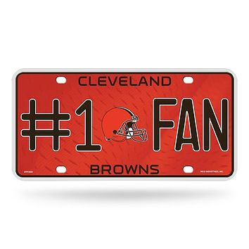 Cleveland Browns License Plate - #1 Fan