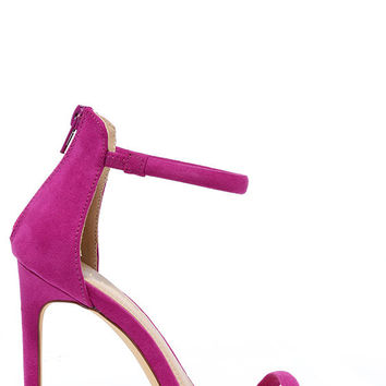 Do the Tango Purple Suede Ankle Strap Heels