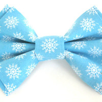 Dog bow tie Christmas bow tie for dog Blue dog bow tie Pet Christmas bow tie Dog collar bow tie