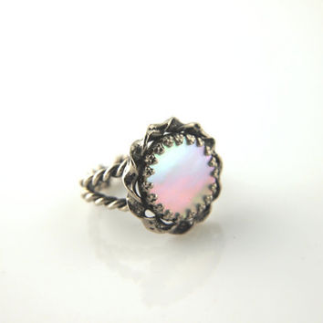 Mother of Pearl Ring  Vintage by VintageParis on Etsy