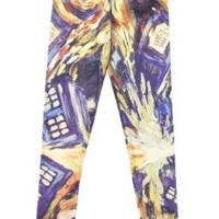 Doctor Who Van Gogh TARDIS Leggings:Amazon:Clothing