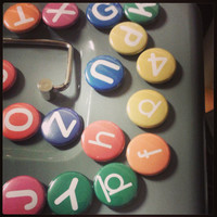 "1"" Inch Alphabet Magnets - Fridge Magnets - Letters & Numbers"