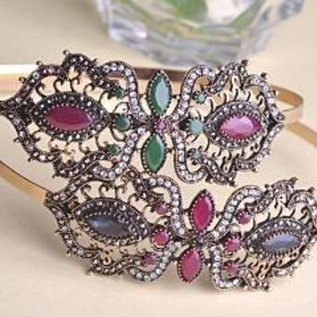Latest Flower Bow Headband  Antique Gold Plated Band