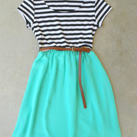 Stripes & Mint Dress