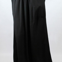 Simply Classic Maxi Skirt with Pockets - Black