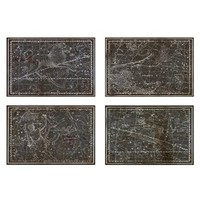 Oliver Gal 'Celestial Map XVI Century' Canvas Prints - Black (Set of 4)