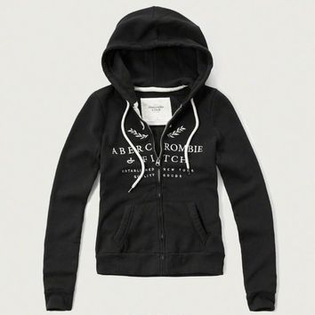Abercrombie & Fitch Women Fashion Casual Cardigan Jacket Coat Hoodie-21