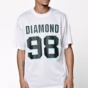 Diamond Supply Co Luminous Mesh T-Shirt - Mens Tee - White