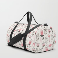 Blooming Floral Duffle Bag by Lena Photo Art
