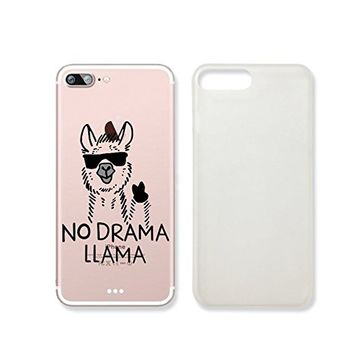 No Drama Llama Clear Transparent Plastic Phone Case Phone Cover for Iphone 7_ SUPERTRAMPshop (iphone 7)
