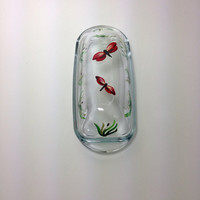 Butter Dish Hand Painted with Dragonflies