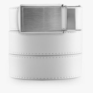 White Golf Belts
