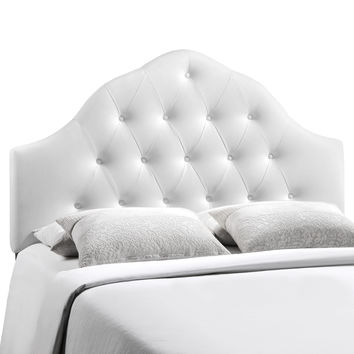 Sovereign Full Vinyl Headboard in White