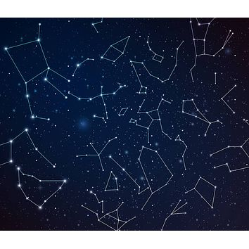 Constellations Zodiac Tapestry Dark Blue Wall Hanging