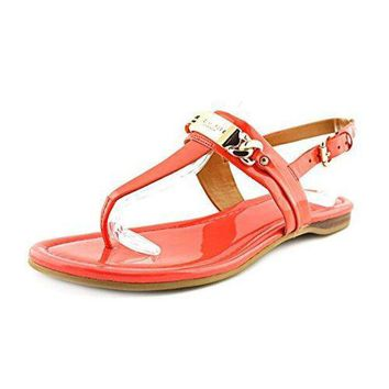 CREY3DS Coach Women?¡¥s Caterine Watermelon Logo Hardware Flat Sandals 9 B(M) US Women