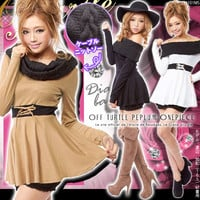 Cable turtle UP switching off lace peplum dress GC DB Sexy c c