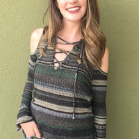 Marley Striped Top - Olive