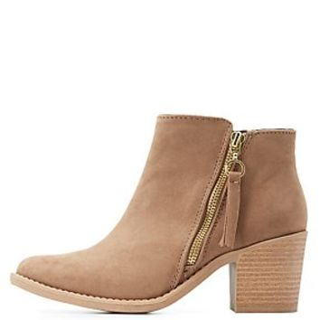 QUPID SIDE ZIP ANKLE BOOTS