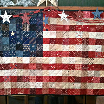 Quilted AMERICAN Flag MADE to order.