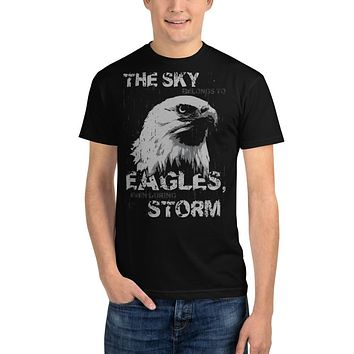 Recycled Organic T Shirts Men's Streetwear T Shirt Ethical Tees Vintage Teeshirts American Eagle Motivational Message