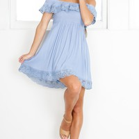 You Are Magic Dress in Light Blue Produced By SHOWPO