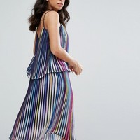 Little White Lies Luce Multicoloured Pleated Dress at asos.com