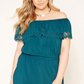 Plus Size Crochet Romper | Forever 21 PLUS - 2000176636