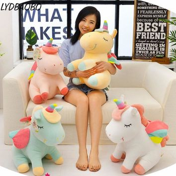 Creative Wing Unicorn Stuffed Plush Doll Baby Lovely Animals Soft Pillow Infant Appease Toys Children Birthday Gift Home Decora
