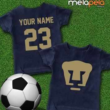 "Custom Pumas de la UNAM ""Futbol"" Soccer T-Shirt - (Kids Sizes)"