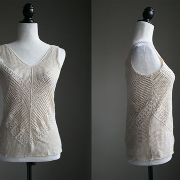 SMALL/MEDIUM - 00s Does 70s Crochet Tank