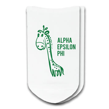 Alpha Epsilon Phi - Sorority Icon No-Show Socks