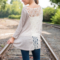 Pure Direction Top, Beige