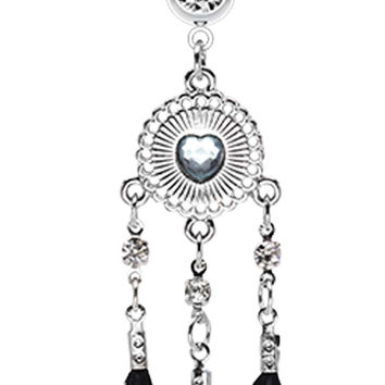 Heart Shield Dream Catcher Belly Button Ring